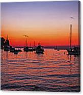 Seascape Silhouette Canvas Print