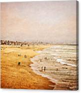 Seashore At Manhattan Beach Canvas Print