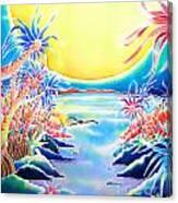 Seashore In The Moonlight Canvas Print