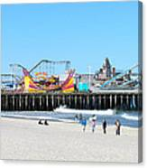 Seaside Casino Pier Canvas Print