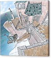 Seaside Castle Canvas Print