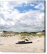 Seaside Driftwood And Dunes Canvas Print