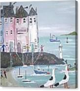 Seaside Houses Canvas Print