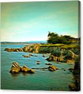 Seaside In The Distance Digital Canvas Print