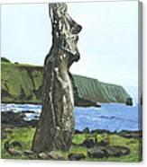 Seaside Moai Canvas Print