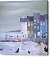 Seaside Seagulls Canvas Print