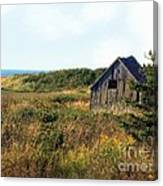 Seaside Shed - September Canvas Print