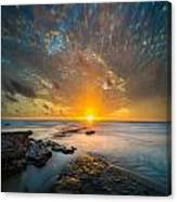 Seaside Sunset - Square Canvas Print