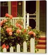 Seaside Victorian Cottage Canvas Print