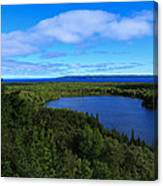 Season Of Blue And Green Canvas Print
