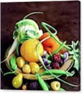 Seasonal Fruit And Vegetables Canvas Print