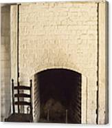 Seat By The Hearth Canvas Print