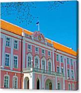 Seat Of Parliament In Old Town Tallinn-estonia Canvas Print