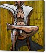 Seated Figure With A Monocle Canvas Print