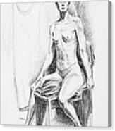 Seated Model Drawing  Canvas Print