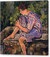 Seated Young Woman Canvas Print