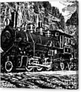 Seattle City Light Train In Bw Canvas Print
