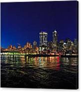 Seattle City Skyline Romance Panorama Canvas Print