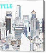 Seattle City With Print Canvas Print