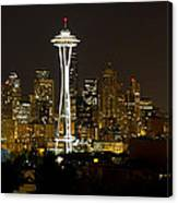 Seattle Downtown Skyline Evening Panorama Canvas Print