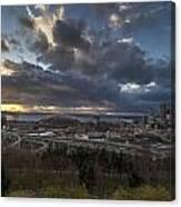 Seattle Dramatic Dusk Canvas Print