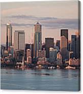 Seattle Dusk Skyline Canvas Print
