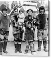 Seattle Eskimo Family Canvas Print
