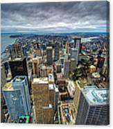 Seattle From Above Canvas Print