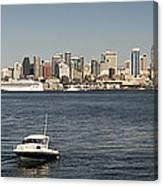 Seattle From Alki Beach Canvas Print