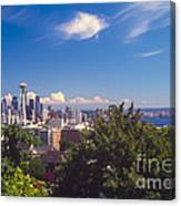 Seattle From Queen Anne Hill Canvas Print