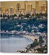 Seattle From The Air Canvas Print