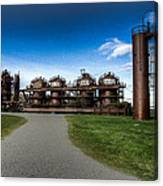 Seattle Gas Light Company Gasification Towers Canvas Print