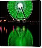 Seattle Great Wheel In Motion Canvas Print
