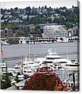 Seattle Marina Canvas Print
