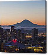Seattle Morning Glow Canvas Print
