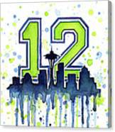 Seattle Seahawks 12th Man Art Canvas Print