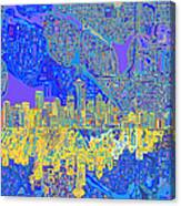 Seattle Skyline Abstract 6 Canvas Print