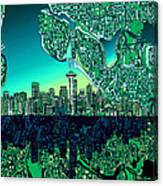 Seattle Skyline Abstract Canvas Print