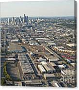 Seattle Skyline And South Industrial Area Canvas Print