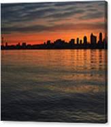 Seattle Skyline At Dawn Canvas Print