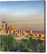 Seattle Skyline Lens Baby Hdr Canvas Print