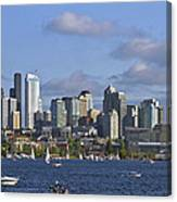 Seattle Skyline On Lake Union Canvas Print