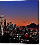 Seattle Sunrise Panorama Canvas Print