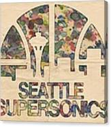 Seattle Supersonics Poster Vintage Canvas Print