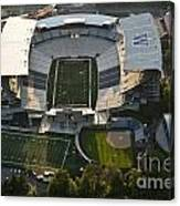 Seattle With Aerial View Of The Newly Renovated Husky Stadium Canvas Print