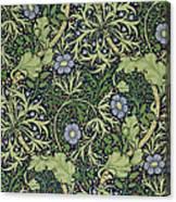 Seaweed Wallpaper Design Canvas Print