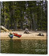 Secluded Beach Camp Canvas Print