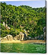Secluded Beach Canvas Print