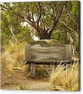 Secluded Bench Canvas Print