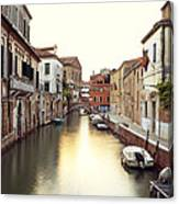 Secluded Canal In Venice Italy Canvas Print